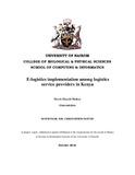E-logistics implementation among logistics service providers