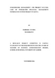 Stakeholder management and project success: case of